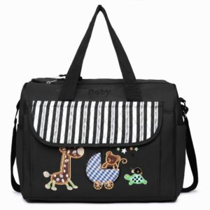 maternity changing bag animal friends black photo
