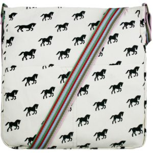 miss lulu canvas square bag horse beige photo