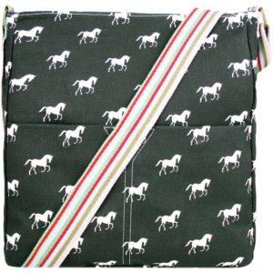 miss lulu canvas square bag horse black photo