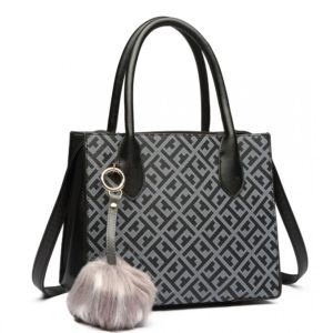 miss lulu handbag pu leather pompom photo