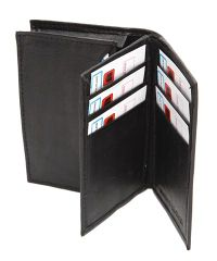 sheep nappa tri fold wallet photo