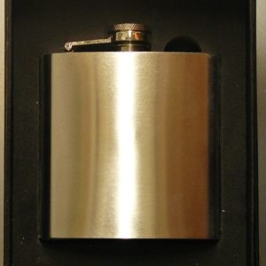 stainless steel hip flash photo