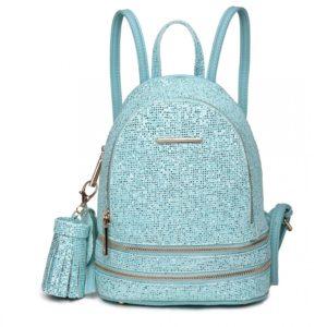 miss lulu glittering fashion small backpack photo