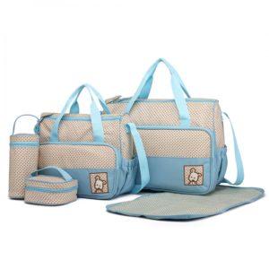 miss lulu polyester 5pcs maternity baby changing bag blue photo