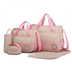 miss lulu polyester 5pcs maternity baby changing bag pink photo