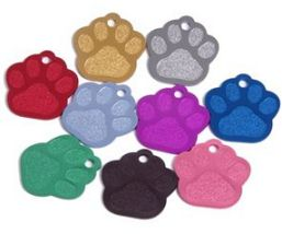 paw print dog tag photo